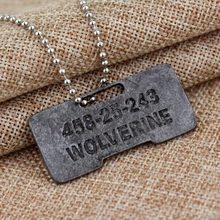 Movie X-Men Origins Wolverines Dog Tag ID Necklace