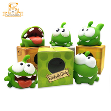 Cut Rope Frogs OM NOM Squeeze Mung Bean Monster Water Toys Novelty Gag Candy Games Animals Figure Children Rubber BB Voice Gifts