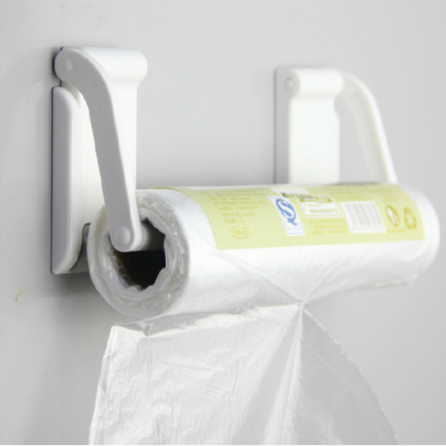Creative Adjustable toilet paper holder magnet towel rack white towel holder paper roll for kitchen bathroom accessories