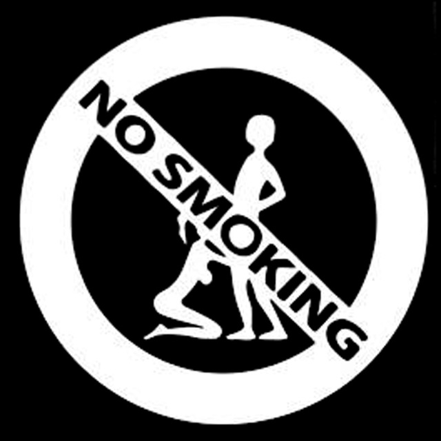 Car Accessory Car Sticker 13.5cm*13.5cm Girl And Boy No Smoking Fashion Car Styling Stickers Decals Black/Silver S3 6265