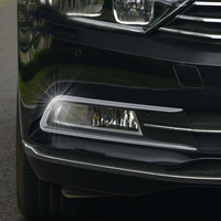 For Passat B8 chrome stainless steel front fog light strip Passat B8 Variant modified front fog lamp frame accessories