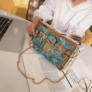 c2774098d03c Новый для женщин коробка сумка PU вышивка Модные женские плечевые сумочки  Crossbody сумка сумки вечерние сумки клатч Bolsa Feminina