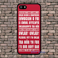 WALES WELSH RUGBY SONG Fashion Cover Case For Iphone 4 4S 5 5S 5C SE 6