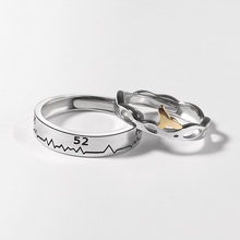 Creative Style Silver Couple Ring For Men Women 925 Whale Tail Wedding Fashion Elegant Jewelry Birthday Gifts
