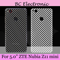 """5.0"""" 2pcs/lot Back Transparent  Battery Back Cover Case Protective Protector for ZTE nubia z11 mini  Protective Film Clear"""