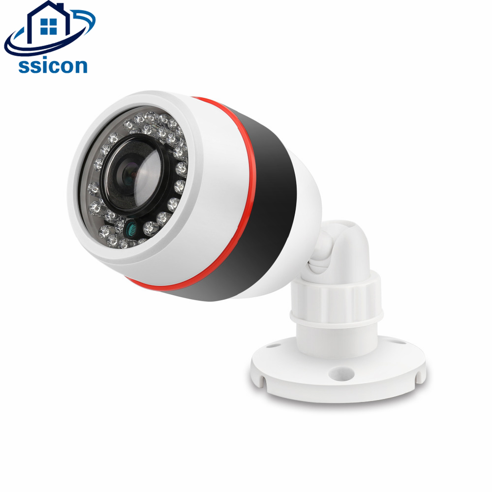 SSICON 1.3MP 2.0MP Bullet Fisheye 180 Degree Camera AHD 32 Pieces Leds IR Distance 20M Mini Security CCTV Camera With OSD Menu bullet camera tube camera headset holder with varied size in diameter