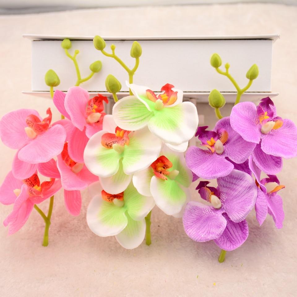 20pcslot 16cm Silk Phalaenopsis Artificial Flower Bouquet