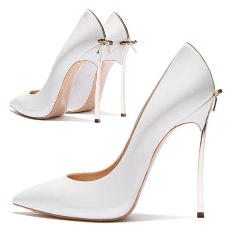 TB7F0w8 2018 Sexy Arco Blanco Zapatos Alto Delgada Tacón Blancos Punta Nuevo 1UqZvv