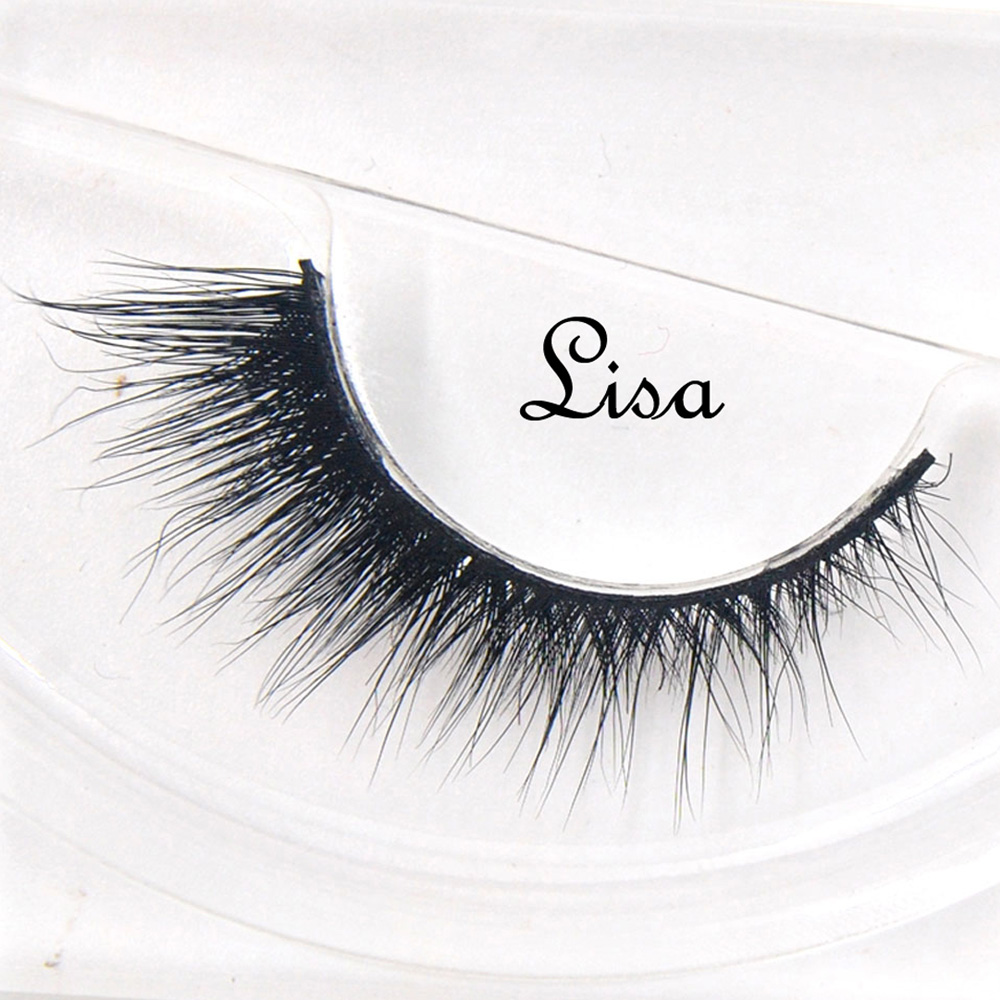 False Eyelashes Hand Made Winged Black Band Mink Lashes Black Cotton Stalk Natural Long Eye Lash Reuse Daily Eye Extension-lisa