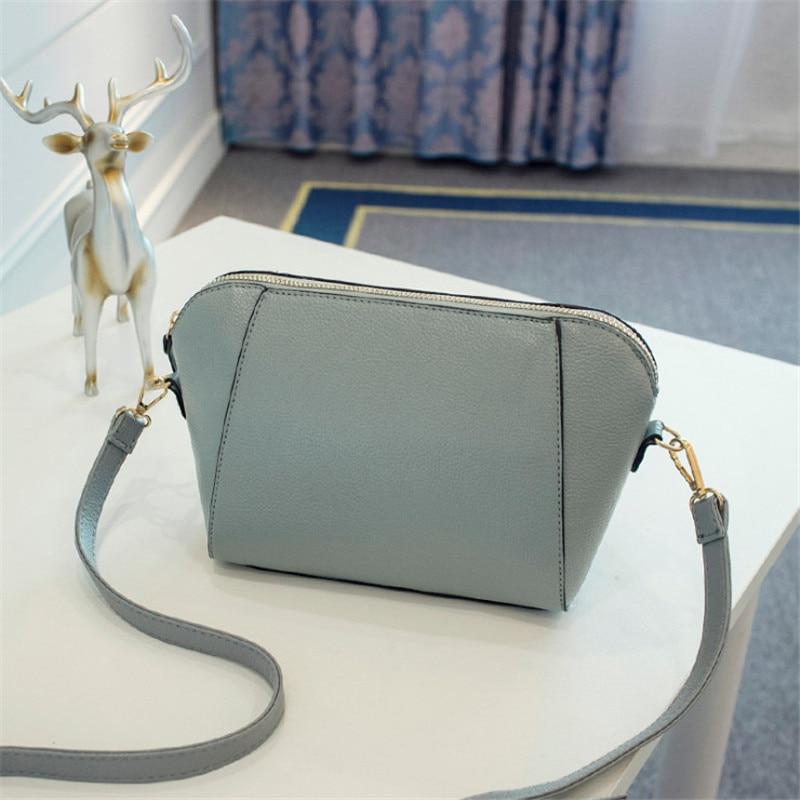 Trendy Japanese and Korean simple shell bag Fashion matches everything female bag small bag single shoulder Messenger bag 31