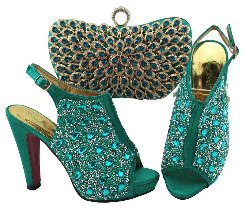 Et Sandale Bling De Pour Mode Italiennes Chaussure Teal Ebi Chaussures Africain Embrayages Sac Aso 2 Italie Sb8288 HwqWUFqR