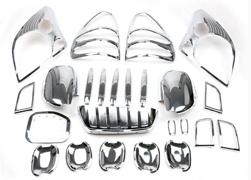 29PCS Chrome Exterior Styling Mirror Cover Front Rear Lamp Cover For <font><b>Toyota</b></font> <font><b>Land</b></font> <font><b>Cruiser</b></font> <font><b>Prado</b></font> <font><b>FJ120</b></font> Accessories 2003-2009 image