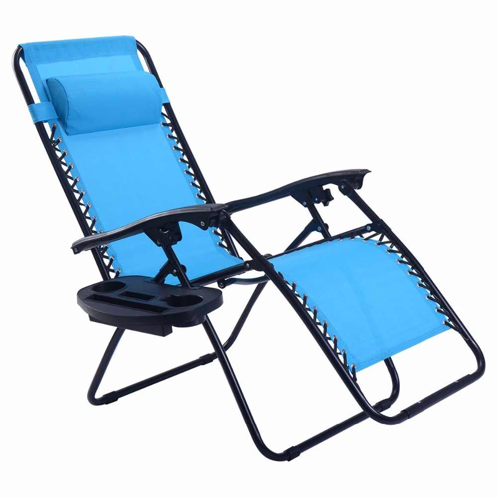 Zero Gravity Outdoor Lounge Chair Guplus Folding Zero Gravity Chair Outdoor Picnic Camping Sunbath Beach Chair With Utility Tray Reclining Lounge Chairs Op3026