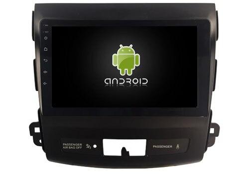 DSP android 8.1.2 gps navigation for Mitsubishi Outlander 2006 2012 Navirider car multimedia stereo radio tape recorder headunit