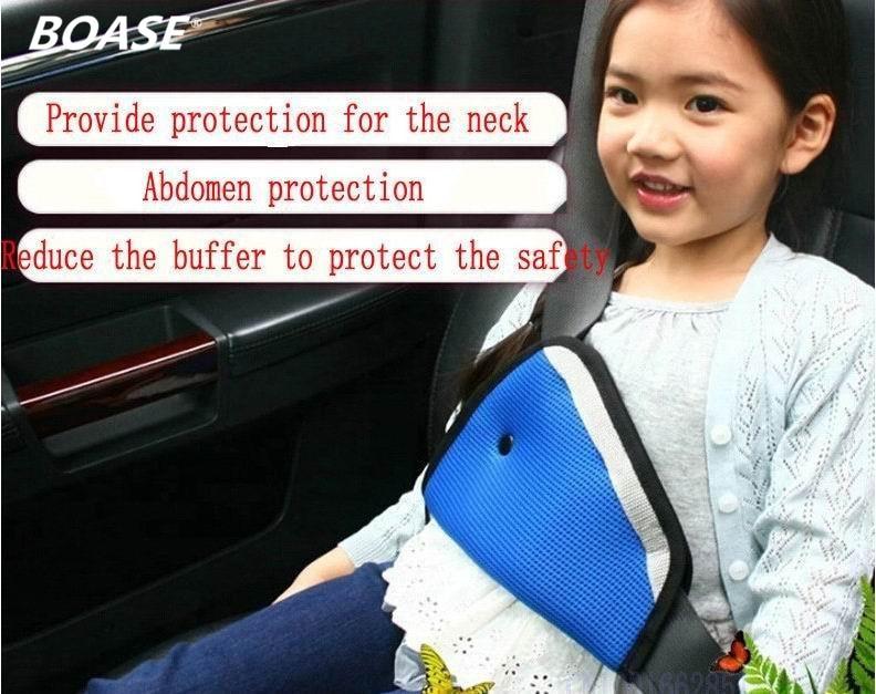 High Quality Car Child Safety Cover Shoulder Harness Strap Adjuster Kids Seat Belt Clip Blue FREE SHIPPING