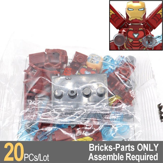 Wholesale 20pcs/lot Ironman MK50 Infinity War Super Heroes Building Blocks Bricks Gifts Kids Toys XH823