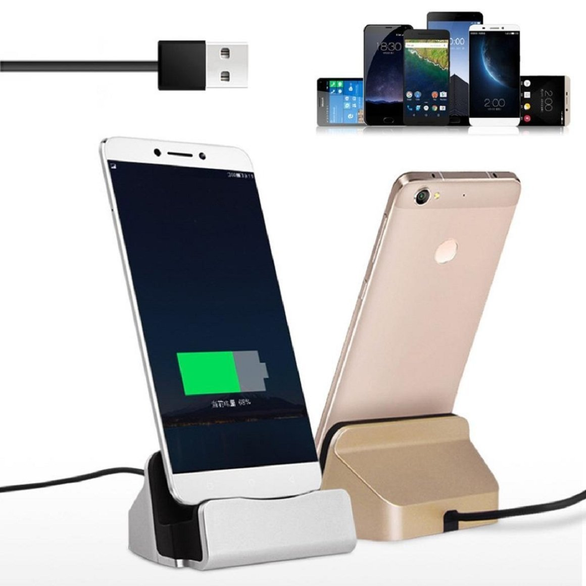 Hot Selling USB Type C Cable Charger Dock Station Desktop Stand For Letv Le 2 2s X600 Max Max 2 Le 1s X500 USB C Charger Station