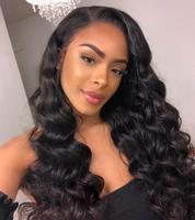 Sunnymay Loose Deep Wave Full Lace Human Hair Wigs For Black Women Pre Plucked Natural Hair Line Bleached Knots Lace Wigs