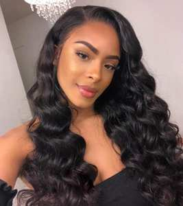 Sunnymay Loose Deep Wave Lace Human Hair Wigs For Black Women Pre Plucked  Natural adaa0e82b5