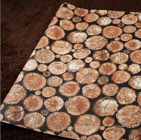 Nouveau 2 Couleurs 3D Bois Grain Papier Peint 3D Simulation Bois Mural  Papier Peint Salon Chambre