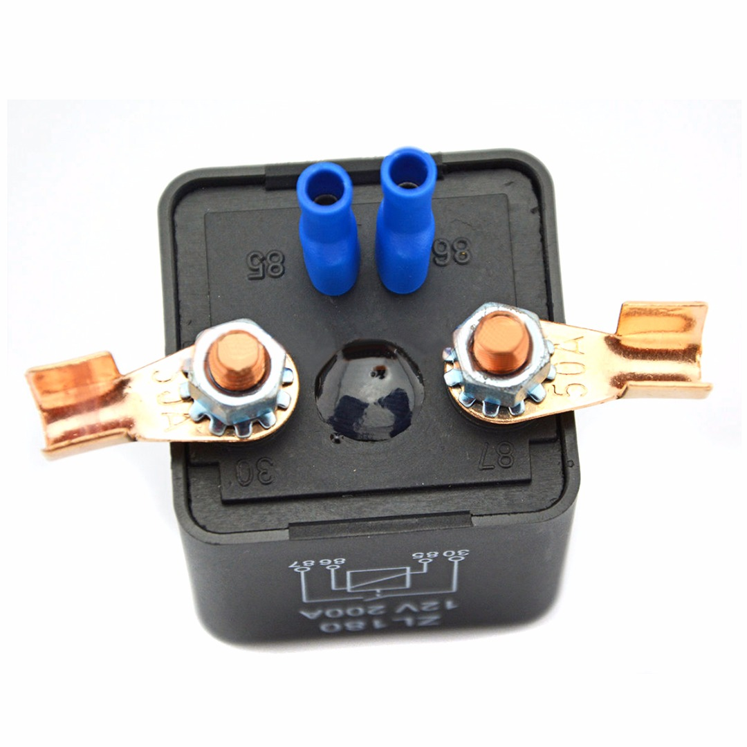 Stable Car Relay Terminal Starter 12V 200A High Power Relay Heavy Duty Split Power Normal Open Mayitr Power Supplies high power car relay 12v dc 200a car truck motor automotive switch car relay continuous type automotive relay car relays