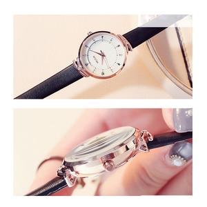 Image 5 - Часы KEZZI женские с кожаным ремешком, брендовые Простые Модные маленькие Кварцевые водонепроницаемые наручные, с кристаллами