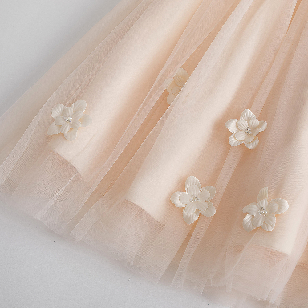 2019 New Children Long Princess Dress Ankle Length Formal Party Ball Gown Kid Wedding Birthday Party Flock White For 2 11 Years in Dresses from Mother Kids