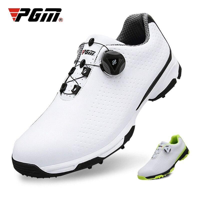2019 nouveau PGM chaussures de Golf hommes chaussures de sport étanche boutons boucle respirant anti-dérapant hommes baskets d'entraînement XZ095