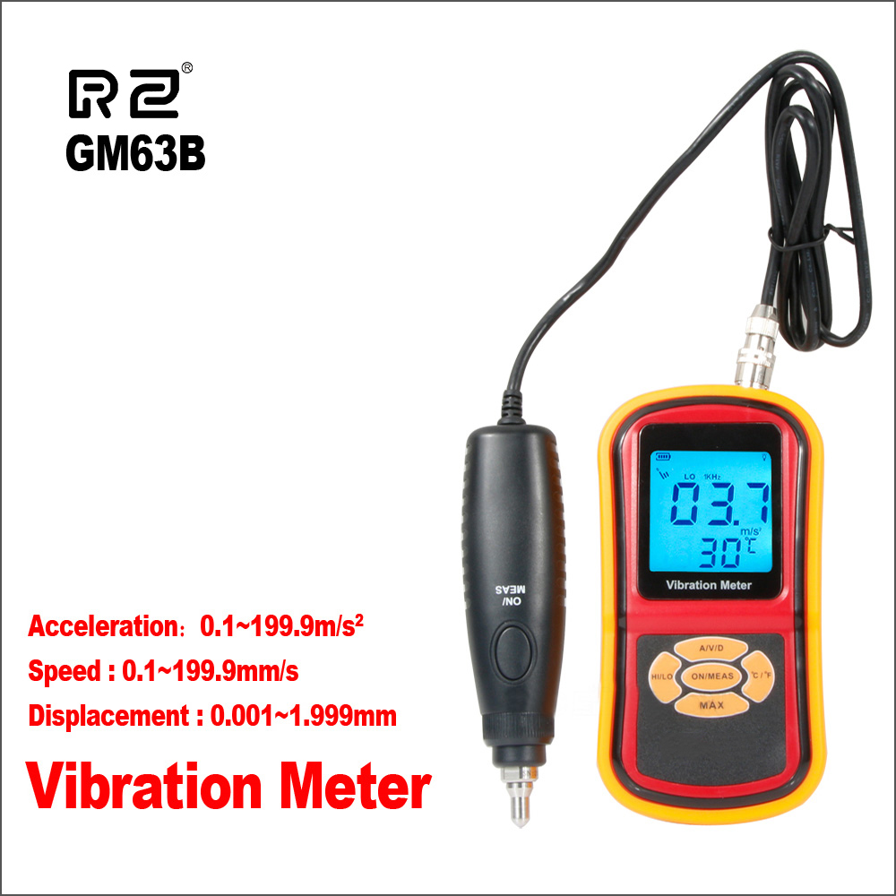 RZ Vibration Meter GM63B High Pression Ultrasonic Vibration Measurement Handheld Digital Vibration Vibrator