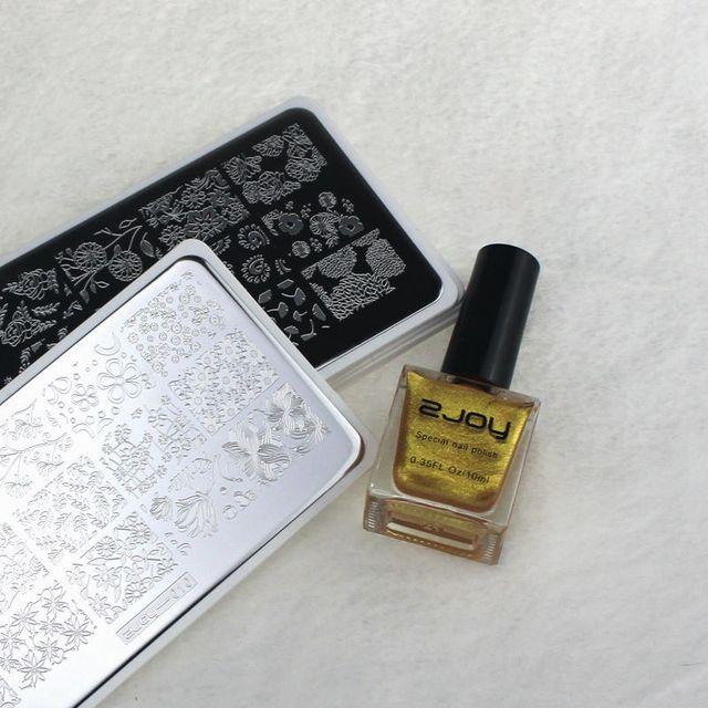 Nueva placa de imagen de Arte de uñas Superior 6*12 CM placas de estampado de uñas Premium ZJOY1-30 diseño de plantilla de Arte de uñas herramienta de imagen de sello