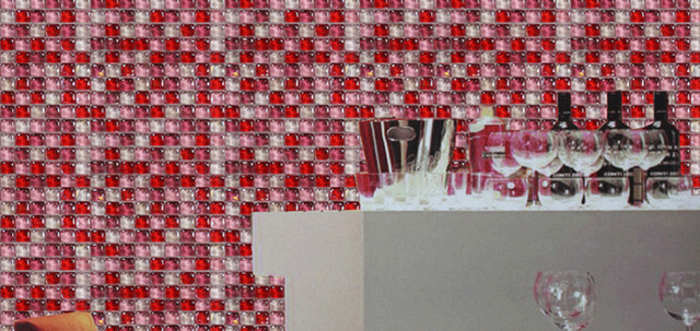 8mm Glazed Red Pink White Crystal Gl Mosaic Tile Wall Kitchen Backslash Bathroom Diy