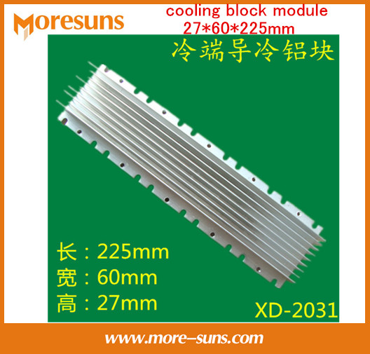 Free Ship XD-LB2030 cold end evaporator for thermoelectric cooler cooling block module 27*60*225mm aluminum radiator free ship by dhl full set xd 2040 12v360w thermoelectric cooler module semiconductor cooler plane cooling plate chiller module