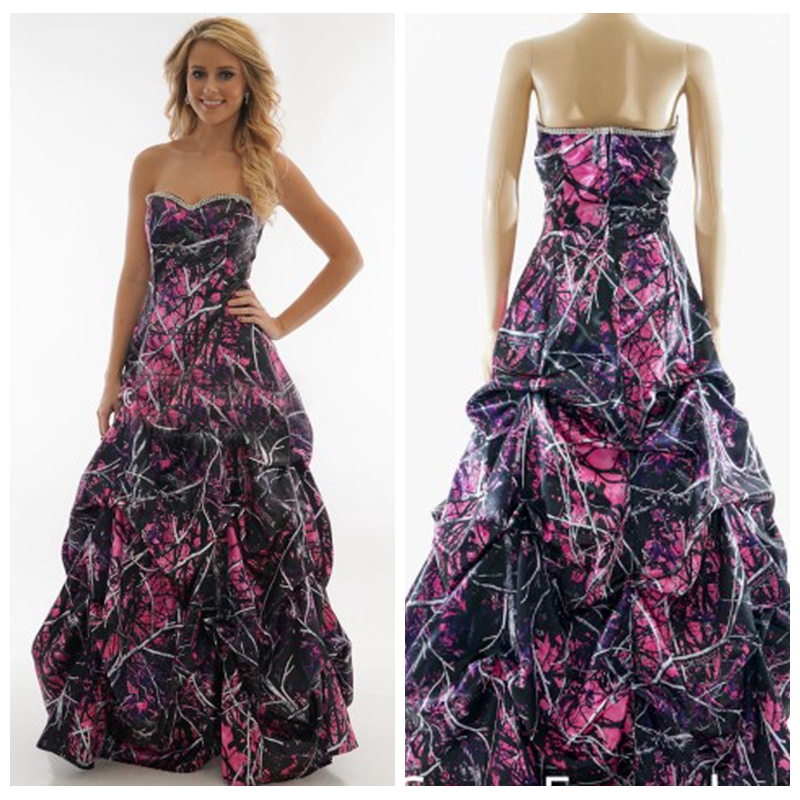 New Muddy Girl A-Line Camo Wedding Dresses Bridal Gowns ...