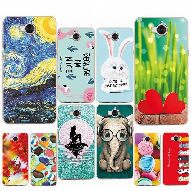 "Various Mermaid Flamingo Phone Cases For Huawei Y6 2017 5.0"" Soft Silicon Case Coque Funda For Huawei Y6 2017 MYA-L11 MYA-L41"