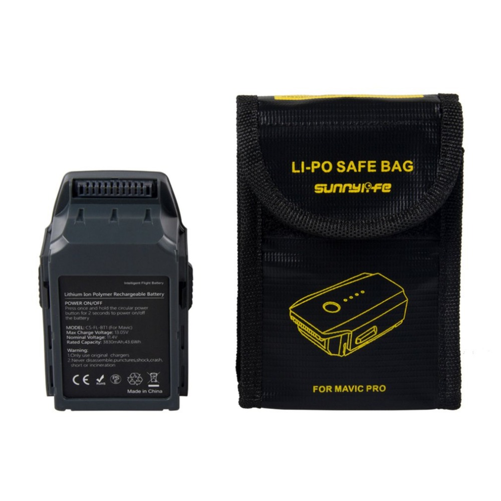 11.4V 3830mAh Intelligent Flight Battery Fireproof Safe Bag Set Lithium-ion Polymer Rechargeable Battery For DJI Mavic Pro 30a 3s polymer lithium battery cell charger protection board pcb 18650 li ion lithium battery charging module 12 8 16v