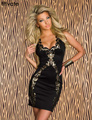 НАРЯЖАТЬ Горячие Продаж Черный Повседневная Отпечатано для Женщин Новый Летний клуб Платья Ретро Сексуальные Женщины Прямо Мода Dress Плюс размер