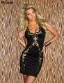 ENFEITAR Vendas Quentes Preto Casual Impresso para As Mulheres Verão Novo vestidos clube retro sexy mulheres tanque moda reta dress mais tamanho