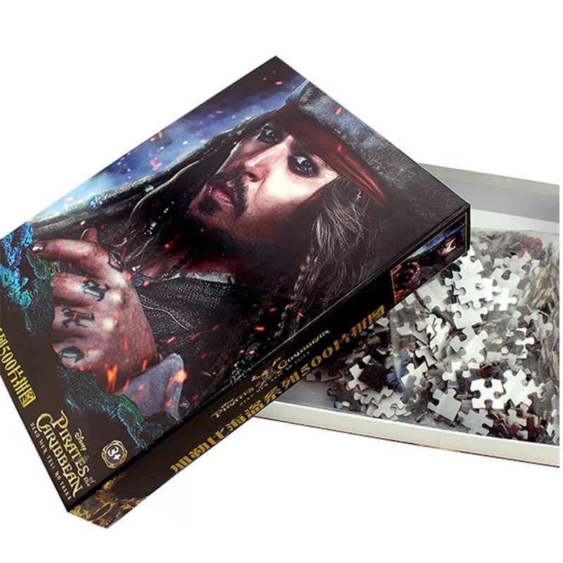 500piece Pirates Of The Caribbean Series Puzzle Brick Toys In-stock Christmas Gift