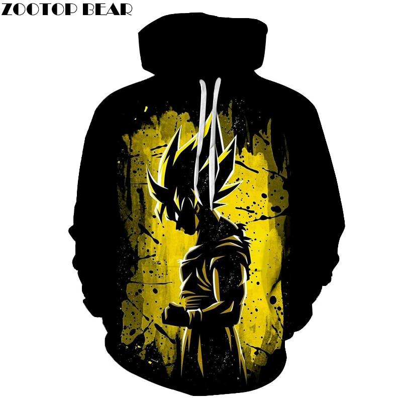 Black Hoody Mens Hoodies Dragon Ball Sweatshirts 3D Tracksuit Black Pullover Harajuku 6XL Fashion Streatwear DropShip ZOOTOPBEAR