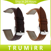 18mm 20mm 22mm Crazy Horse Genuine Leather Watchband Quick Release Strap Universal Men Women Watch Band