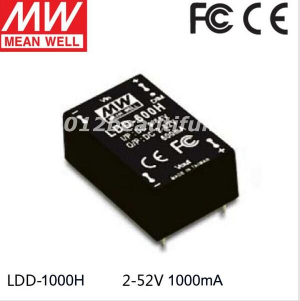 5piece/lot Meanwell Ldd-1000h Led Driver DC9-56V to DC2-52V 1000mA