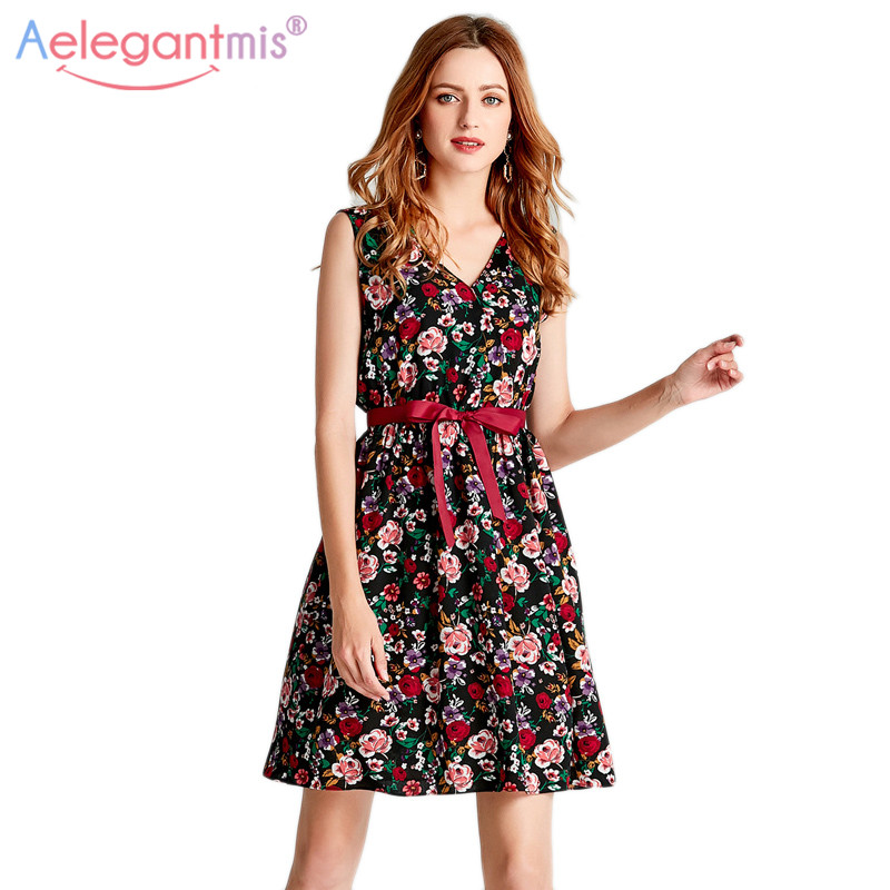 Women's Clothing Aelegantmis Women Boho Summer Beach Dress Sexy V Neck Short Sleeve Floral Print Loose Long Dresses Lady Ruffles Pink Cute Dress
