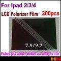 200pcs 9.7inch LCD polarizer film polarizing film polarize film for ipad 2  for ipad 3  for ipad 4