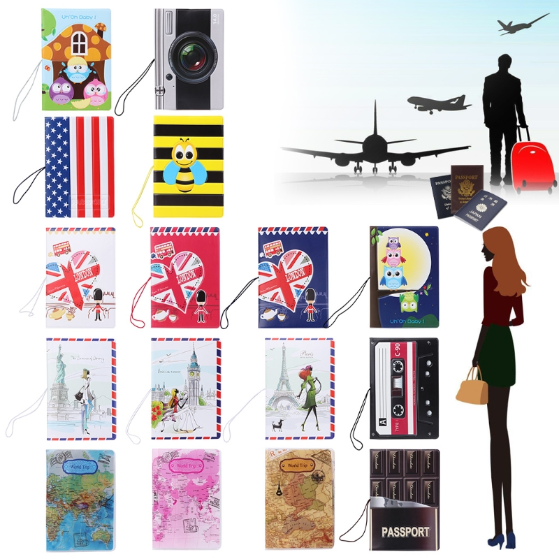 1PC Travel Utility Simple Passport ID Card Cover Holder Case Protector Skin PVC New