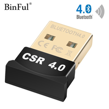 Binful Bluetooth 4.0 Adapter Dongle USB 2.0 Wireless EDR Adaptor with 3Mbps for Laptop