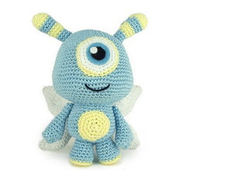 crochet toys  amigurumi rattle cartoon character    model  number  w727
