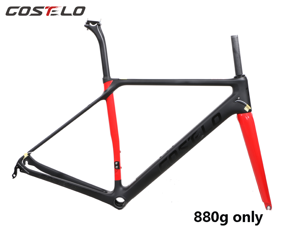 COSTELO Ultimate carbon road bike frame,fork headset clamp, seatpost Carbon Road bicycle Frame 880g CF SLX free shipping alternativa ванночка малышок большая alternativa розовый