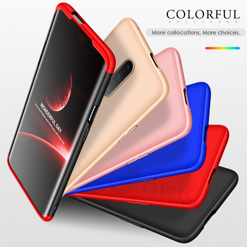 GKK luxury Case for Oneplus 7 pro case 360 Full Proction Shockproof Hard PC Matte Phone Cover For Oneplus 7 Case Fundas coque in Fitted Cases from Cellphones Telecommunications