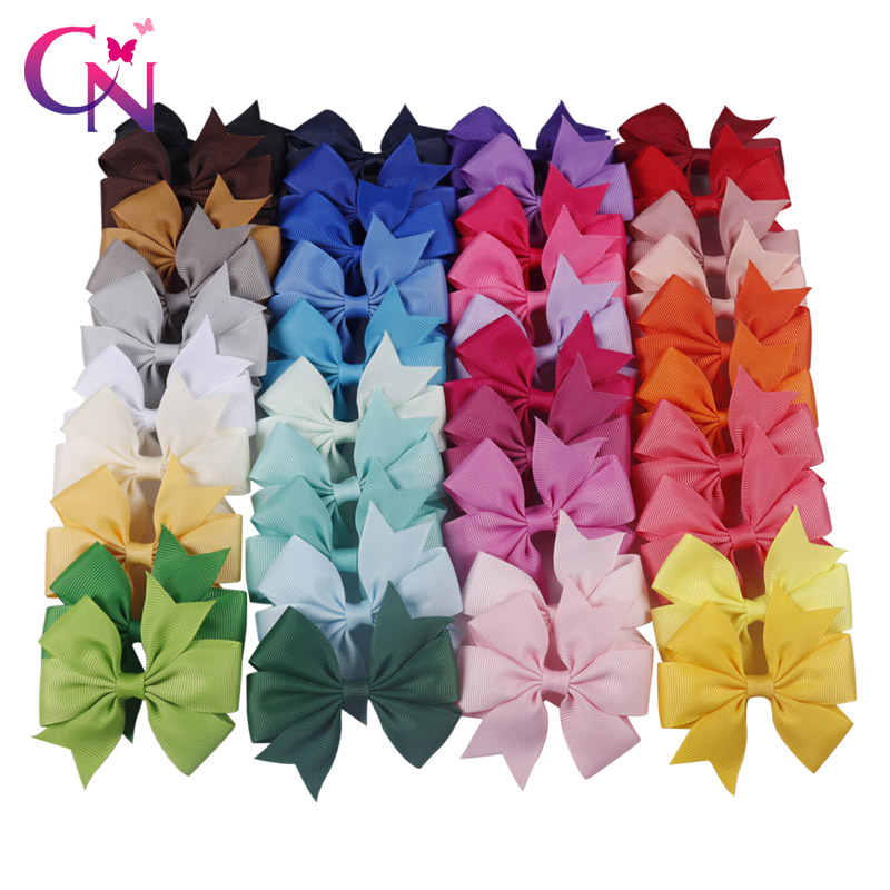 Sale Baby Candy Colorful Ribbon Bow Cute Girls Hairpins Children Hair Clip Hair Accessories Headwear 40 Colors
