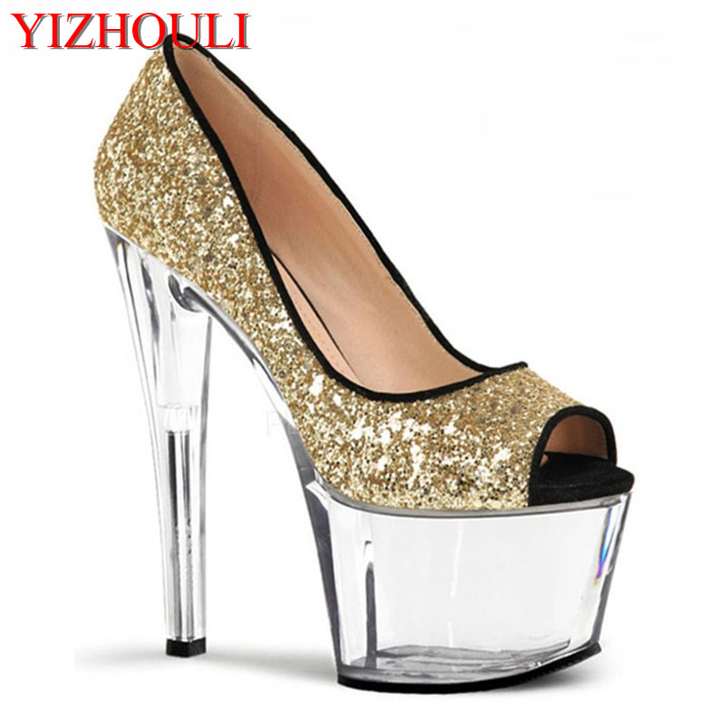 Office & School Supplies Sexy Stage Star Favorite Fish Mouth With Sandals Black Bride Wedding Shoe 15 Cm High Heels Womens Dance Shoes